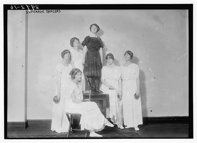 Suffrage dancers