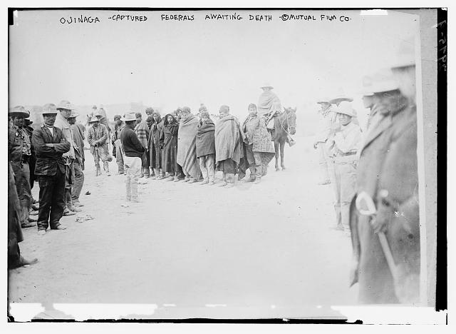Ojinaga -- Captured Federals awaiting death