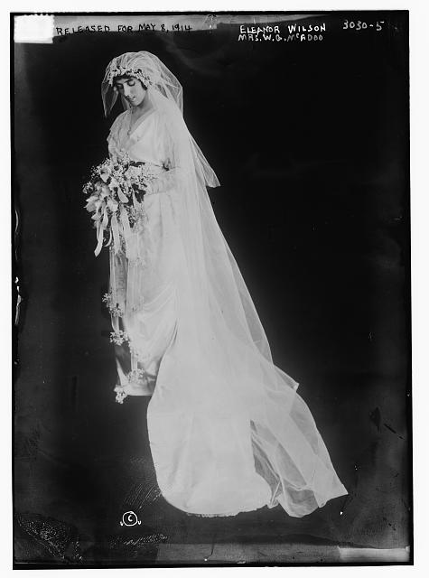 Eleanor Wilson -- (Mrs. W.G. McAdoo) [in wedding dress]