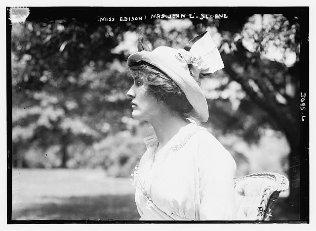 (Miss Edison) Mrs. John E. Sloane