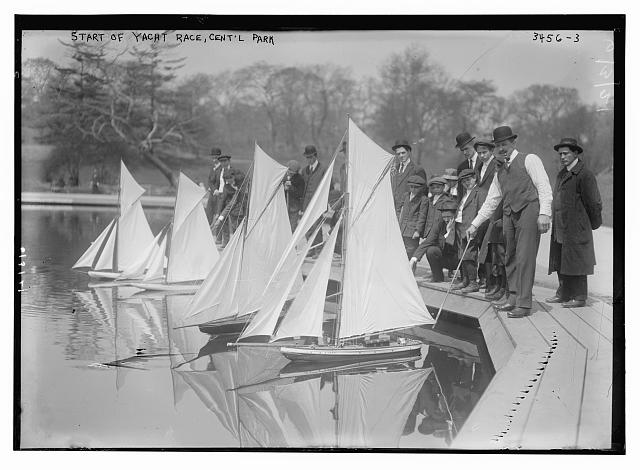Start of yacht race, Cent'l [Central] Park