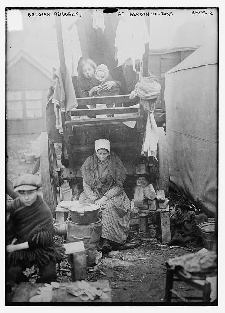 Belgian Refugees, at Bergen-op-zoom