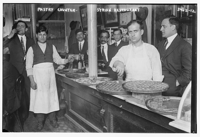 Pastry counter -- Syrian restaurant