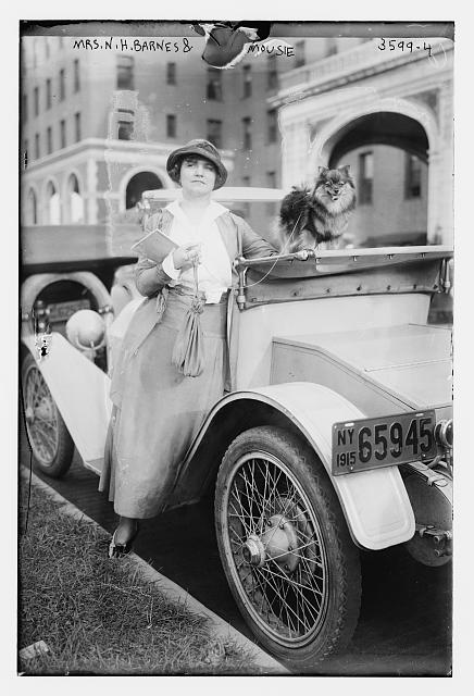 "Mrs. N.H. Barnes & ""Mousie"" - dog"