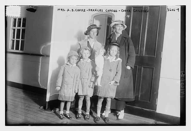 Mrs. A.B. Cooke -- Frances Coffee -- Cooke Children