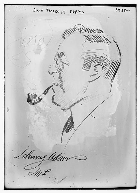 John Wolcott Adams (caricature) by J.M. Flagg