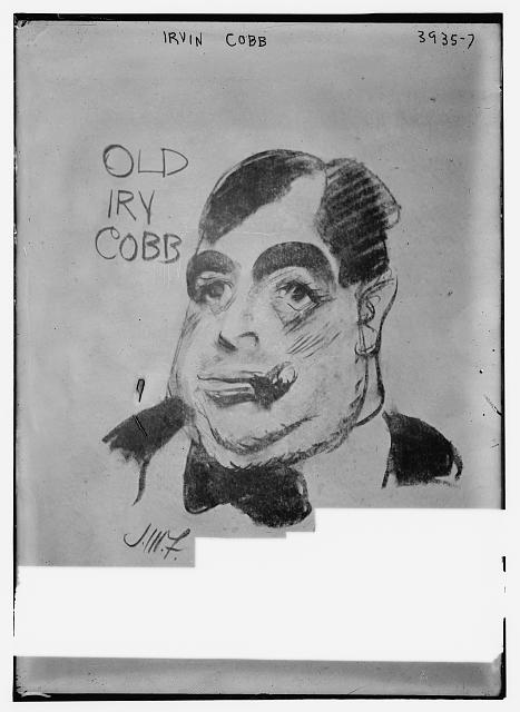 Irvin Cobb (caricature) by J.M. Flagg