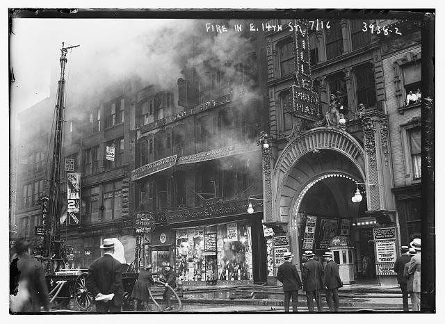 Fire, E. 14th St., 1916