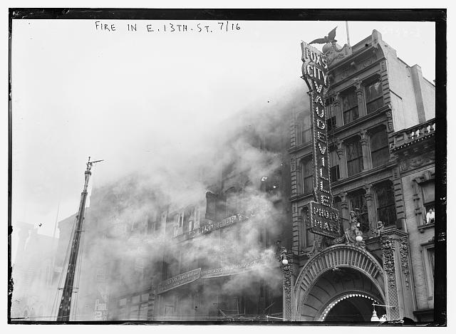 Fire, E. 13th St., 1916