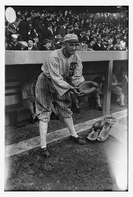 [Shoeless Joe Jackson, posing as catcher, Chicago AL (baseball)]
