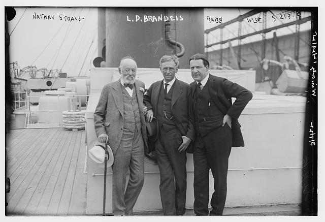 Nathan Straus and L.D. Brandeis & Rabbi Wise