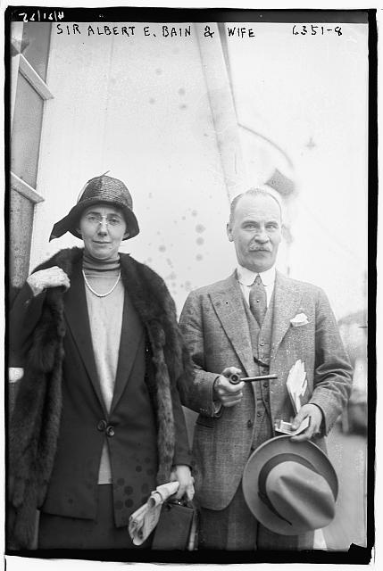 Sir Alb E. Bain and wife