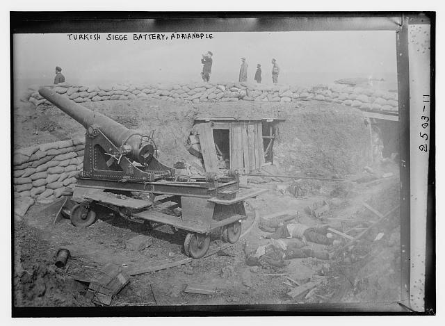 Turkish siege battery, Adrianople