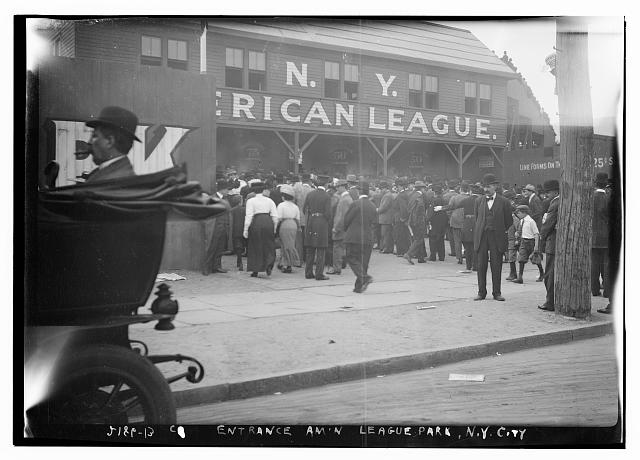 [Entrance, American League Park (Hilltop Park), New York City (baseball)]