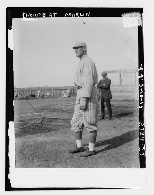 [Jim Thorpe, New York NL, at spring training in Marlin Springs, Texas (baseball)]