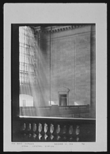 Seventy-one years, or, My life with photography. Sun rays, morning, Grand Central Station, Dec. 14, 1913