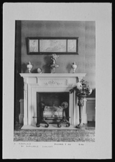 Seventy-one years, or, My life with photography. Fireplace by available sunlight, Dec. 5, 1911