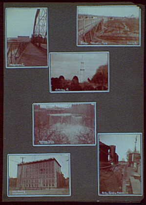 "Photos by a commercial ""wanderer"" through New York and Pennsylvania. Bridges, hotel, waterfall, train and Gettysburg"