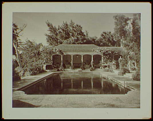 Master prints. Estate of Mrs. Woodward Vietor, residence in Palm Beach, Florida, swimming pool