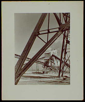 Master prints. Pittsburgh Plate Glass Co., Columbia Chemical Division, steel scaffolding