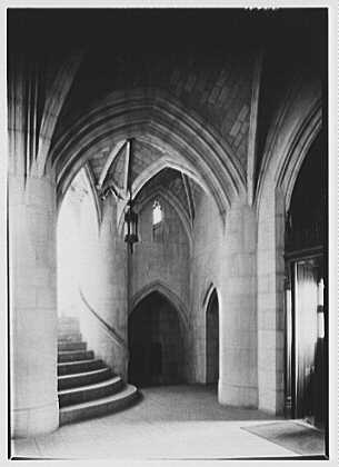 Riverside Church, New York City. Circular staircase to narthex II