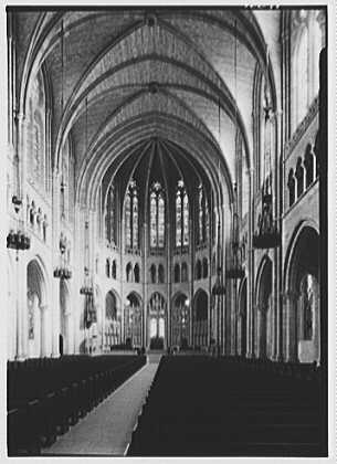 Riverside Church, New York City. General to chancel from right