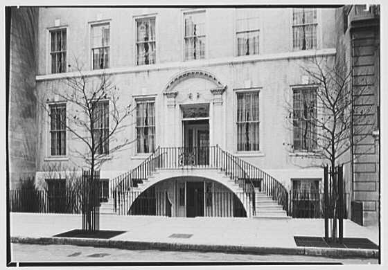 R.C. Leffingwell, residence at 38 E. 69th St., New York City. Lower part of exterior