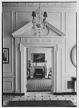 R.C. Leffingwell, residence at 38 E. 69th St., New York City. Vista through doorway