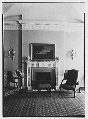 R.C. Leffingwell, residence at 38 E. 69th St., New York City. Blue room fireplace