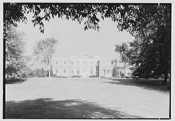 Roy D. Chapin, residence at 447 Lake Shore, Grosse Pointe Farms, Michigan. Entrance facade, center framed, 9 A.M.