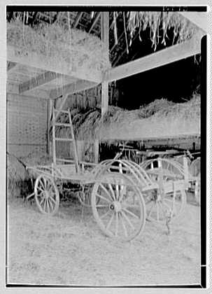 Charles G. Meyer, residence on Bell Ave., Bayside, Long Island. Hay barn, looking in
