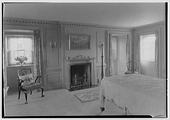 Gerald B. Lambert, Carter Hall, residence in Millwood, Virginia. Mr. Lambert's room