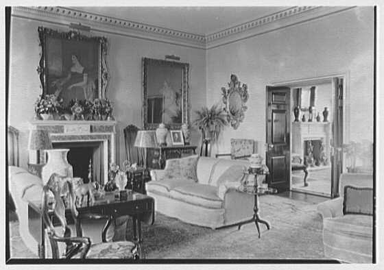 Mrs. John E. Berwind, residence at 834 5th Ave., New York City. Living room, to dining room