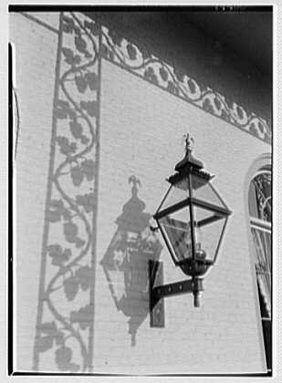 Cosmopolitan Club, 122 E. 66th St., New York City. Detail of lamp and shadow