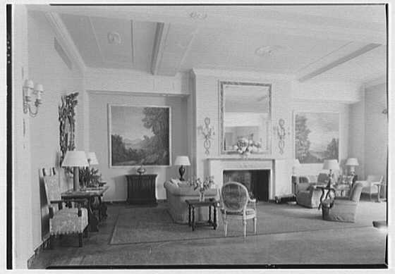 Cosmopolitan Club, 122 E. 66th St., New York City. Lounge, general