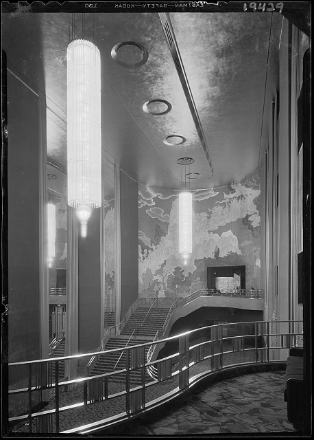 International Music Hall, Radio City, New York, New York. Foyer from balcony