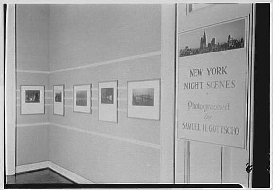 Museum of the City of New York, 5th Ave. and 103rd St., New York City. Exhibition sign