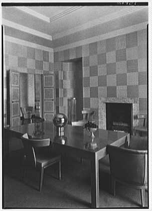 Mrs. William E. Clow, Jr., residence in Lake Forest, Illinois. Dining room
