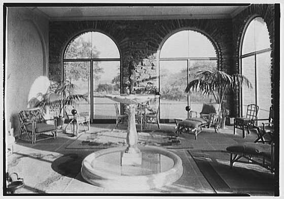 John N. Conyngham, Hayfield Farm, residence in Lehman Township, Pennsylvania. Sun porch