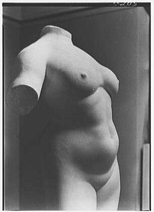 Gaston Lachaise, exhibition at Museum of Modern Art. Torso detail