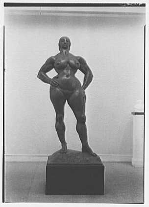 Gaston Lachaise, exhibition at Museum of Modern Art. Heroic woman