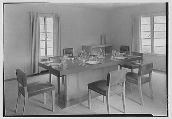 George R. Dyer, residence in Brookville, Long Island. Dining room table