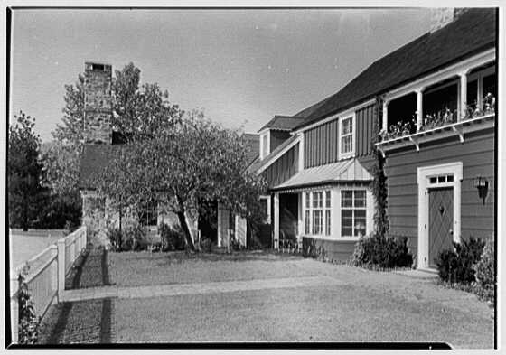 C. Maury Jones, residence in Peapack, New Jersey. Entrance yard