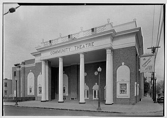 Community Theatre, Hudson, New York. General view