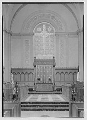 Brick Presbyterian Church, 91st St. and Park Ave., New York City. Detail of chancel