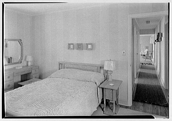 Lifehouse no. 3, Harbour Green, Massapequa, Long Island. Master bedroom, to hall