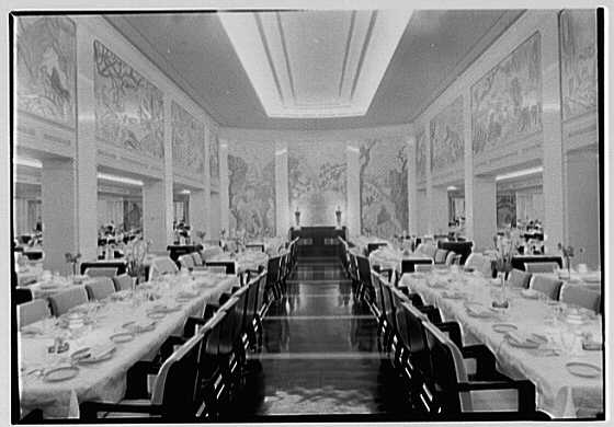 S s america united states lines dining room i for U s senate dining room