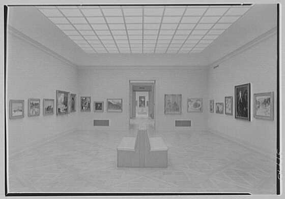 Norton Gallery and School of Art, West Palm Beach, Florida. Gallery wide view and vista