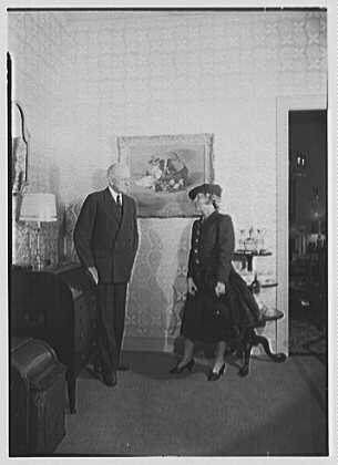 W. & J. Sloane National Art Week, 5th Ave. & 47th St., New York City. Mrs. Benjamin Rogers & Mr. Thomas F. Watson, in dining room
