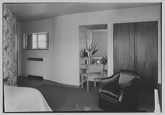 Thomas S. Holden, residence on Tory Hill Rd., Darien, Connecticut. Guest room, to dressing table